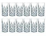 Nachtmann - Noblesse - Longdrinkglas, Gin Tonic, Becher - 12er Set - Wasserglas, Saftglas,...