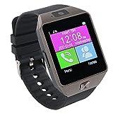 Sport Smart Watch,Bluetooth Uhr Telefon mit Schrittzähler Schlaftracker SIM Kartenslot Kamera für Android Smartphones