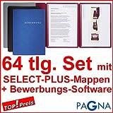 20 dreiteilige Bewerbungsmappen SCHWARZ + 20 DIN B4 Versandtaschen + 20 Adressetiketten +...
