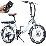 Bluewheel klappbares E-Bike BXB55 - 20 Zoll Pedelec mit Smartphone APP E-Citybike mit 250W Bafang...