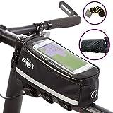 BTR Deluxe Fahrrad-Tasche und Handy-Halterung – Wasserfeste Rahmentasche für Fahrräder, die ALL...