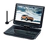 Reflexion DVD1017 Tragbarer 25,4 cm (10 Zoll) DVD-Player mit DVB-T2 HD Tuner, Fernbedienung, 12V...