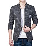 Herren Freizeit Causual Tweed Blazer Sakko Business Hochzeit Slim Fit 1 Knopf Kurzmantel
