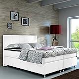 Boxspringbett 140x200 Hotelbett Doppelbett Polsterbett Ehebett amerikanisches Bett Modell Madrid Typ...