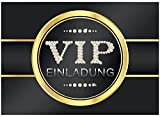 16 edle VIP Einladungskarten Geburtstag - Motiv V.I.P. - Für Party, WG, Einweihung, Geburtstagseinladungen im Set