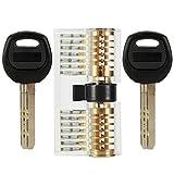 YOEEKU profilzylinder Schließzylinder Transparents Lockpicking Übungsschloss Schloss Schlössern Vorhängeschlösser Übungszylinder mit 2 Stabilen Schlüsseln für Schlosser Anfänger