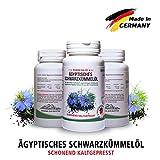 Bestes Schwarzkümmelöl Kapseln • 1500 mg pro Tagesdosis sehr hochdosiert • kaltgepresst • ägyptisch • naturbelassen • mit Vitamin E 15mg • Apotheken Qualität