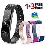 Navtour Fitness Armband mit 3 Ersatzbänder(kostenlos) Wasserdicht IP67 Fitness...