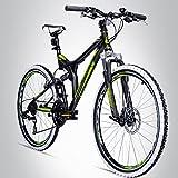 Bergsteiger Phoenix 26 Zoll Mountainbike, geeignet ab 160 cm, Scheibenbremse, Shimano 21...