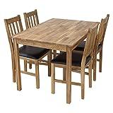 Tischgruppe LUCCA Tisch 120 x 80cm + 4 Stühle Eiche massiv