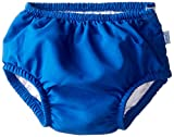 iplay Jungen Schwimmwindel Badewindel mit Knöpfen und UV Schutz blau uni