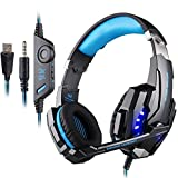 PUNICOK G9000 PS4 Gaming Headset Kopfhörer mit Mikrofon 3.5mm On Ear Surround Sound Ohrhörer und...