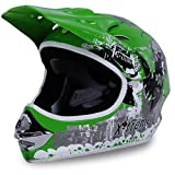 Motorradhelm X-treme Kinder Cross Helme Sturzhelm Schutzhelm Helm für Motorrad Kinderquad und Crossbike in grün (XX-Large)