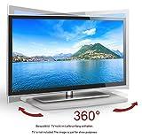 RICOO TV Drehteller Fernsehtisch LCD Fernsehstand Drehbar FS053W LED Fernseher Tisch Aufsatz Podest...