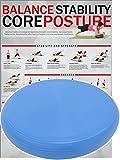 POWRX Ballsitzkissen Deluxe inkl. Workout I 36 cm Gleichgewichtskissen orthopädisch I...