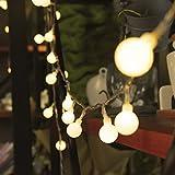 13M 100 LED Lichterkette, SiFar 8 Modi Lichterkette Warmweiß Mit EU-stecker Netzteil, Innen- und...