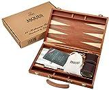 Set de backgammon - 15 pouces - Acajou de luxe - Jaques of London