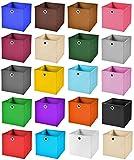 4x Aufbewahrungs Korb Dunkelgrün Faltbox 33 x 33 x 33 cm Regalkorb von Stick&Shine faltbar
