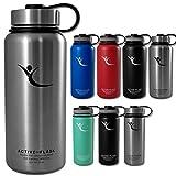 Trinkflasche ACTIVE FLASK Isolierflasche + 3 Trinkverschlüsse | BPA frei - 1l / 0,5 Liter | Vakuum...
