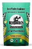 koawach Pfefferminz Kakaopulver mit Koffein aus Guarana Wachmacher Kakao - Bio, vegan und Fair Trade...