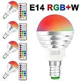 (4 Pack)LED RGBW Lampen, Sunpion 3W E14 Glühlampen Dimmbar Glühbirne, inklusive Fernbedienung,...