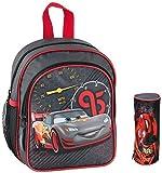 Disney Cars Kindergartenrucksack Kindergartentasche inkl. Stifte Etui und Sticker von Maximustrade / sehr leicht / geräumig / 300 Gramm / 25x22x13 cm / DAJ-309-SET