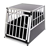 zoomundo Alu Transportbox Hundebox Reisebox Hundetransportbox 1-Türig Autotransportbox...