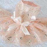 Hrph Gestickte Hundekleider Hochzeit Prinzessin-Kleid für Hunde Pet Rock Kleidung Supplies