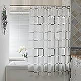 Haus & Bashroom PEVA Badezimmer Duschvorhang Proof Wasser EVA Bad Vorhang ( größe : 260 wide*180 high )