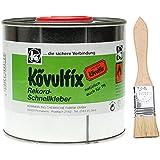Kövulfix Rekord 300g Schnellkleber + Auftragspinsel Kontaktklebstoff Universalkleber (5€/100gr) Lederkleber Schuhkleber