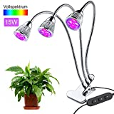 15W LED Pflanzenlampe,Pflanzenleuchte Wachstumslampe Pflanzenlicht,Rot Blau(9:6) für Zimmerpflanzen...