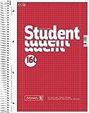 Brunnen 1067728 Notizblock / Collegeblock Student (A4, kariert, 70 g/m², 160 Blatt)