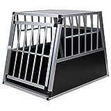 Hundetransportbox Alu Größe xxl von Jalano schwarz / silber - Gitterbox Aluminium Auto...