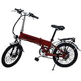 E-Bike Elektro Fahrrad Faltrad 20' 51cm ALUMINIUM Ebike 6 Gang Shimano (Rot)