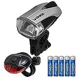 VARTA CREE LED Bike Light inkl. 5x High Energy (AAA Batterien Fahrradlicht Fahrradbeleuchtung Fahrradleuchte Fahrradlampe Fahrradbeleuchtung mit Frontlicht und Rücklicht - mit Halterung fürs Fahrrad)