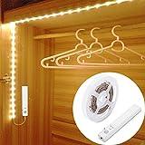 LED Schrankbeleuchtung,LUXJET 30LED 1M LED Streifen,BatterieBetrieben Nachtlicht,3000K Warmweiß...