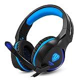 BUTFULAKE Gaming Headset, Audio Stereo Bass mit LED, Kopfhörer mit Controller Praxis, kompatibel...