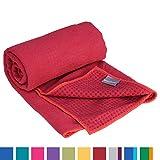 GRIP2 Yoga Towel, Yoga-Handtuch mit Antirutsch-Noppen, rutschfest, Mikrofaser-Yogatuch, sehr gut...