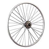 Taylor Wheels 28 Zoll Hinterrad YAK19 mit 7 fach Shimano Schraubkranz - silber