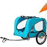 Merax Fahrradanhänger Hundeanhänger Hunde Fahrrad Tier Anhänger Mit Universalkupplung von Flieks...