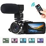 Camcorder Videokamera, ACTITOP FHD 1080P 30FPS 24MP IR Nachtsicht YouTube Vlogging-Kamera...