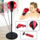 Blackpoolal Punchingball Boxen Set mit Boxhandschuhen & Pumpe für Kinder Jugend, Punching Boxsack...