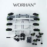 WORHAN® Fahrradträger Heckträger Fahrrad - Gepäckträger Anhängerkupplung ISO9007, UKAS998,, LED (Für 4 Fahrräder (FA4)