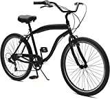 Critical Cycles Herren Chatham-7 Men's Beach Cruiser 26' Seven-Speed Bicycle, Matte Black, One Size
