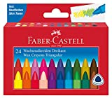 Faber-Castell 120024 - Dreikant Wachsmalkreide 24er Kartonetui