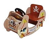 Bebe Style PRF1RB Pirate Schaukelpferd Schiff-Wippe Schaukelspielzeug, braun