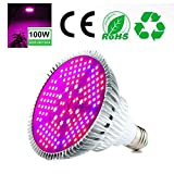 Pawaca 100W LED Pflanzenlampe Vollspektrum Pflanzen Licht Lampe, E27 Grow Led Pflanzenleuchte,...