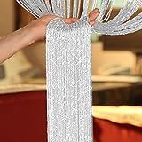 TRIXES weiß Fadenvorhang im Tautropfen Design als Raumteiler Fliegenschutz oder als festliche...