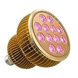 Pflanzenlampe TaoTronics LED Vollspektrum Wachstumslampe mit 12 3W LEDs, Pflanzenleuchte...