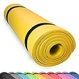 diMio Yogamatte Gymnastikmatte rutschfest mit Tragegurt, phlatatfrei + SGS-geprüft, 185x60x1.0cm...